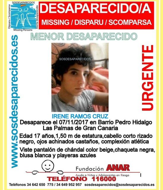 Guardia Civil request information about missing girl aged 17