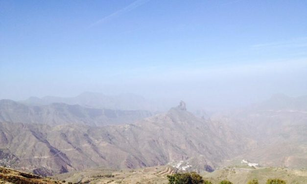 "Sunshine and Saharan Dust for the ""Bridge"" weekend on Gran Canaria…"