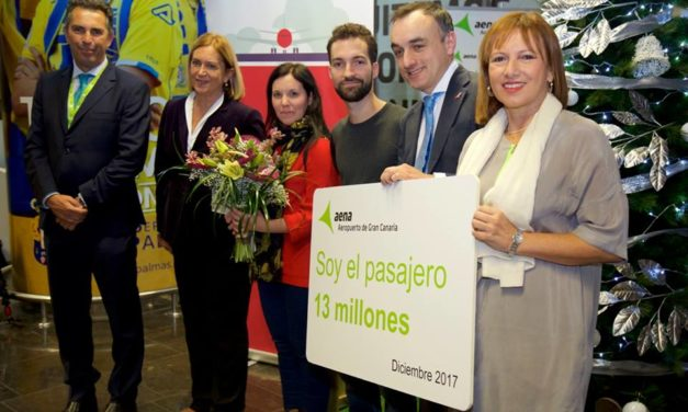 Gran Canaria airport's new record facilitating 13 million passenger journeys in 2017