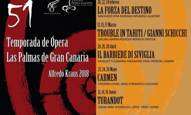 Events: 51st season of Opera Las Palmas