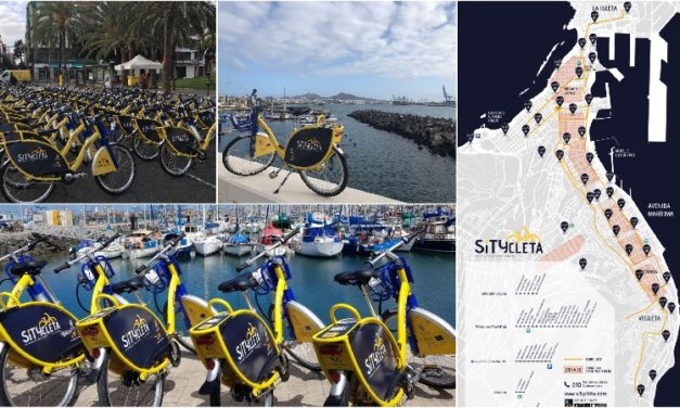 Las Palmas city's new bicycle rental service