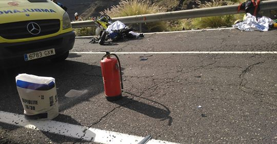 c1c3e6f9a The violent motorcycle accident which occurred on Sunday in the Los  Azulejos area