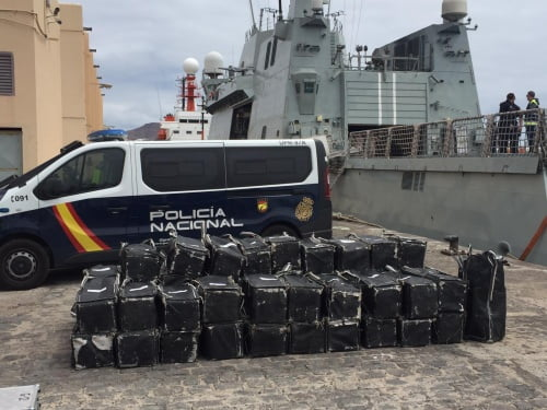 Fishing boat loaded with 1,500 kg of cocaine intercepted near Canary Islands