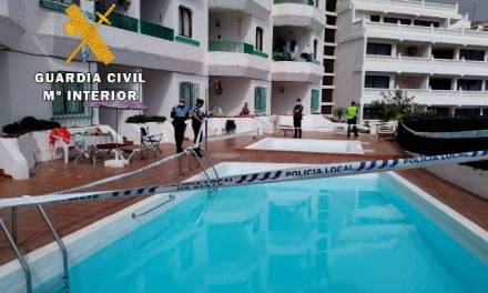 Guardia civil interrupts a pool party in Puerto Rico de Gran Canaria