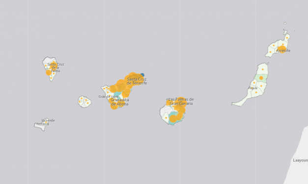 (MOBILE) Latest Canary Islands Data COVID-19 Coronavirus Cases 2020 Map