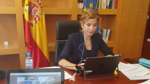 Hana Jalloul, Spain's Secretary of State for migration undertakes the transfer of migrants in canary islands