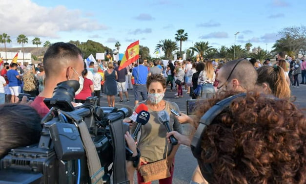 The Mogán Town Council condemns the use of any type of violence and incitement to hatred and calls for the calm of residents