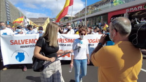 protest in Puerto Rico with Onalia Buento