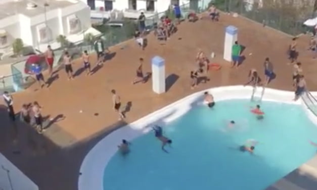 Guardia Civil swoop on migrant youths enjoying a swimming pool to enforce covid rules after multiple complaints by neighbours