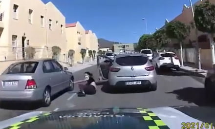 Ten minute Gran Canaria car chase caught on camera as maniac driver dangerously attempts to escape Guardia Civil police patrol