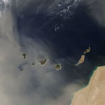 Saharan dust continues to blanket The Canary Islands as we wait for heavy rain to potentially arrive by Sunday