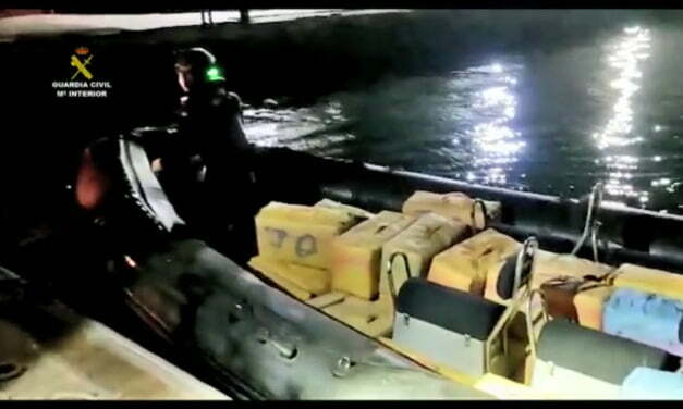 Two separate maritime interventions results in several bales of hashish, potentially up to 10 tonnes, being seized and taken to Gran Canaria