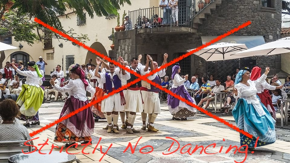 Strictly No Dancing: Canary Islands events & shows restricted over easter with extra limits on hospitality, bars and restaurants over easter