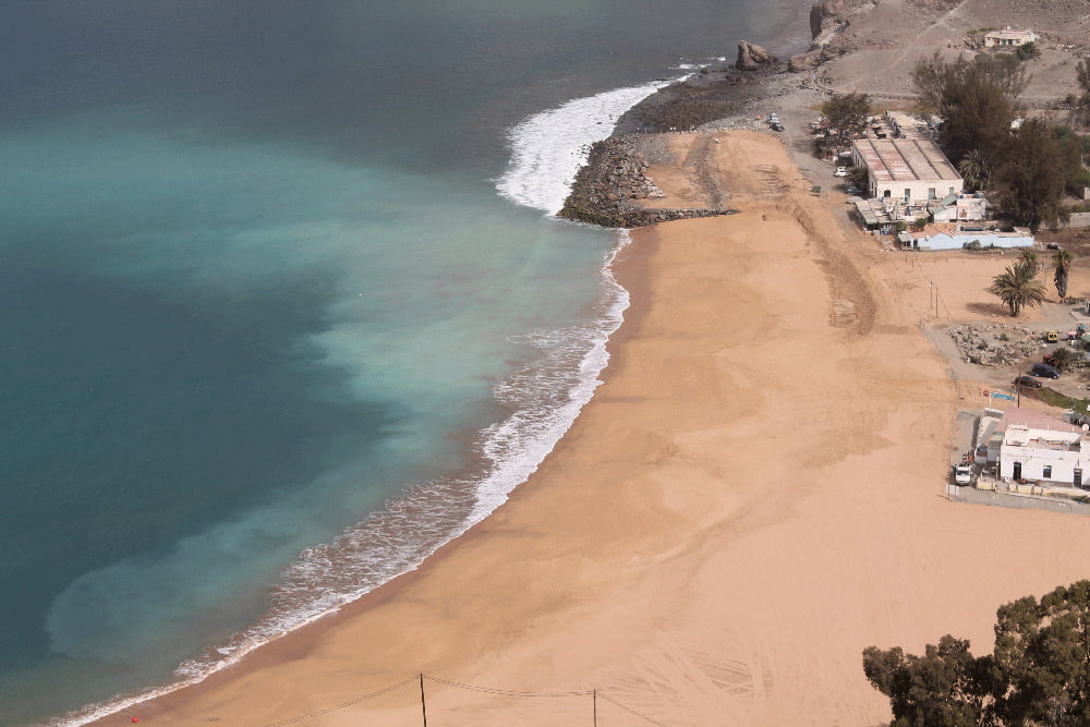 Anfi Tauro SA will be billed by the coastal authority for the removal of the illegal breakwater and embankment on Tauro Beach