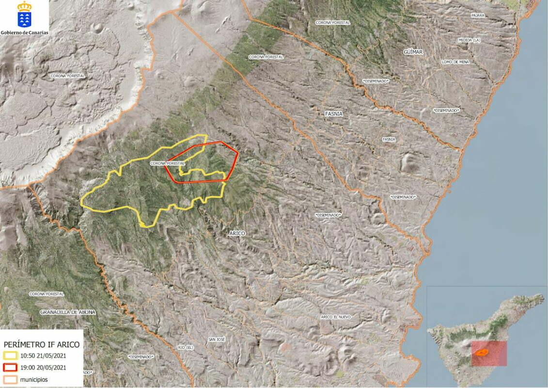 """#IFArico Tenerife Forest Fire still """"out of control"""" as fire crews head into their second night tackling the blaze on the mountain"""