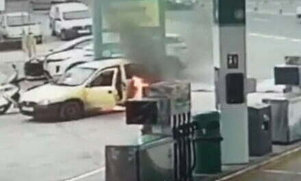 The Hero of Pepe Chiringo KM 13 puts out car fire at petrol station