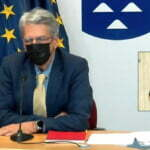 English Language Summary: Canary Islands Governing Council Press Conference with spokesperson for the Executive, Julio Pérez, and the Health Minister, Blas Trujillo