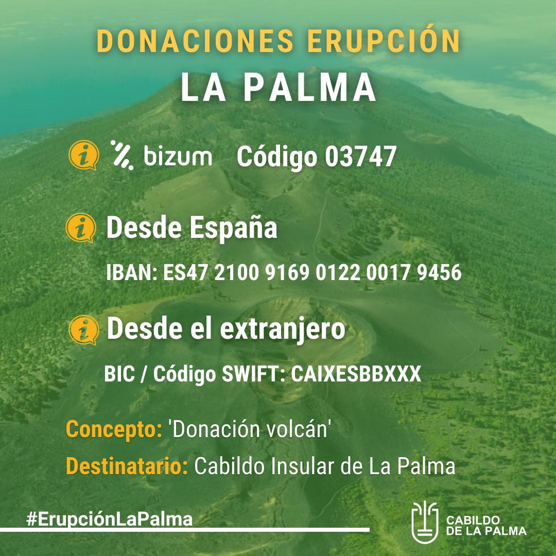 """La Palma """"tsunami of hope"""", as multiple solidarity organisations collect donated items to send to victims of volcano"""