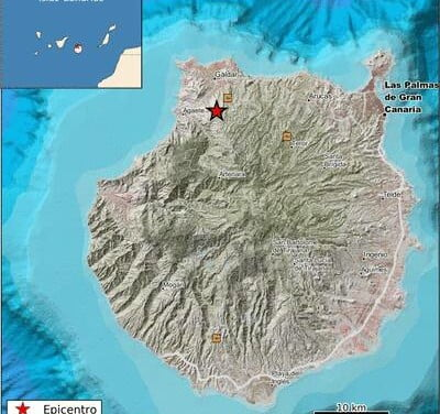 2.2 magnitude earthquake detected on north of Gran Canaria